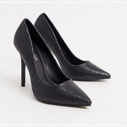 ASOS Casual Style Faux Fur Plain Pin Heels Party Style