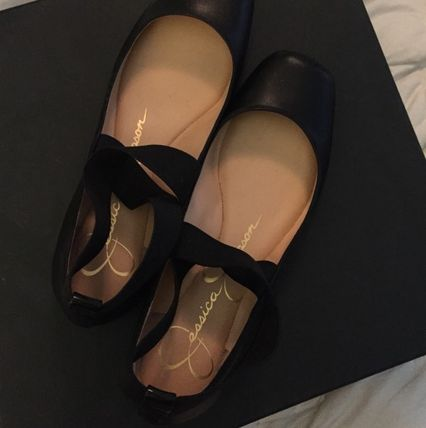 Square Toe Casual Style Plain Leather Party Style