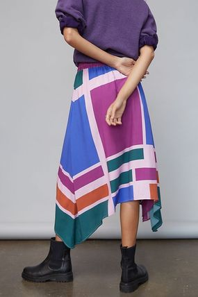 Flared Skirts Casual Style Medium Party Style Office Style