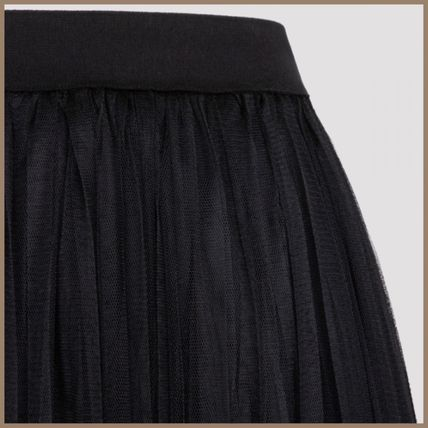 Casual Style Pleated Skirts Long Elegant Style Maxi Skirts
