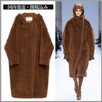 MaxMara TEDDY BEAR Plain Long Eco Fur Chester Coats