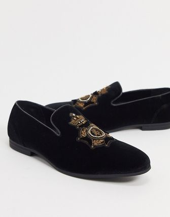 ASOS Loafers Suede Blended Fabrics U Tips Loafers & Slip-ons
