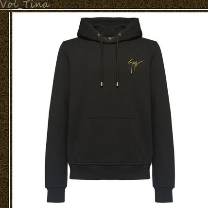 Plain Cotton Logo Hoodies