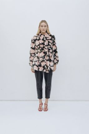 Flower Patterns Casual Style Party Style Coats