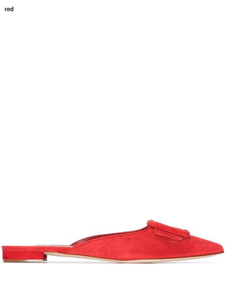 Mules Casual Style Plain Leather Elegant Style Sandals