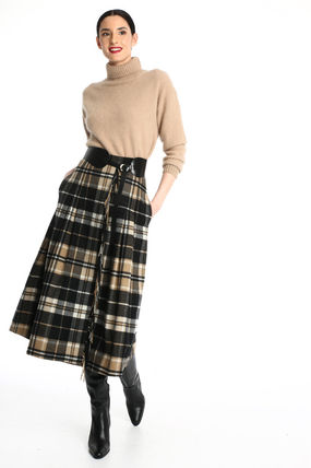 Other Plaid Patterns Casual Style Wool Office Style