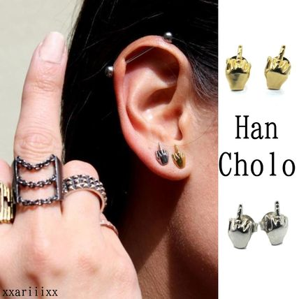 Unisex Studded Street Style Stainless Earrings
