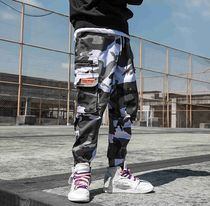 Printed Pants Camouflage Street Style Patterned Pants