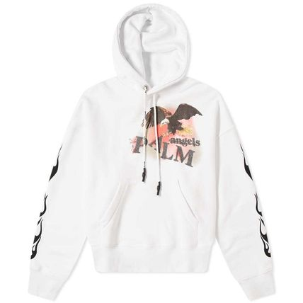 Palm Angels Hoodies Street Style Long Sleeves Plain Cotton Logo Hoodies 2