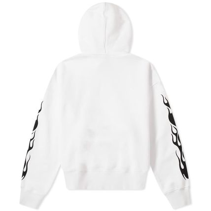 Palm Angels Hoodies Street Style Long Sleeves Plain Cotton Logo Hoodies 3