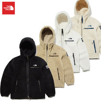 THE NORTH FACE Short Unisex Blended Fabrics Street Style Shearling Logo