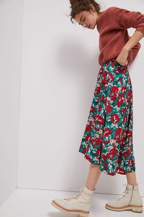 Flower Patterns Casual Style Medium Party Style Office Style