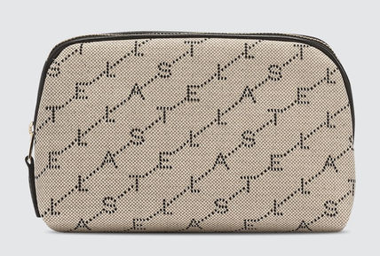 Stella McCartney Canvas Logo Pouches & Cosmetic Bags
