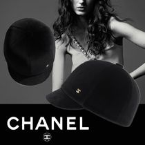 CHANEL Blended Fabrics Street Style Hats & Hair Accessories