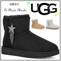 UGG Australia MINI BAILEY BOW Star Casual Style Sheepskin Fur Street Style Plain Logo