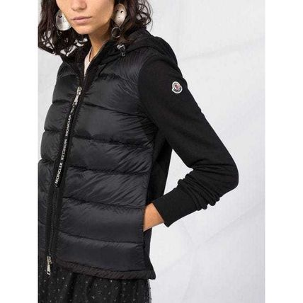 MONCLER Casual Style Blended Fabrics Street Style Plain Bridal