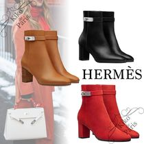 HERMES Casual Style Leather Office Style Elegant Style