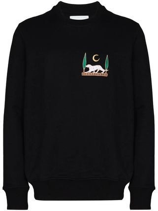 Pullovers Long Sleeves Plain Cotton Logo Sweaters