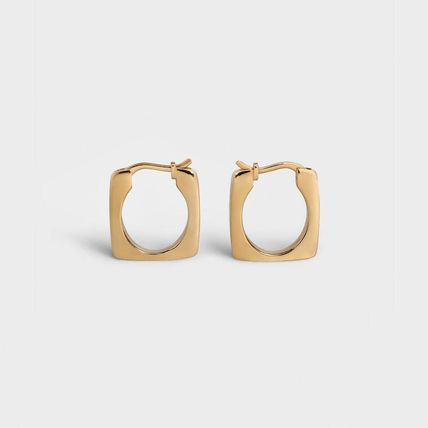 CELINE Formes Simples Pentagon Bangle In Brass With Gold Finish
