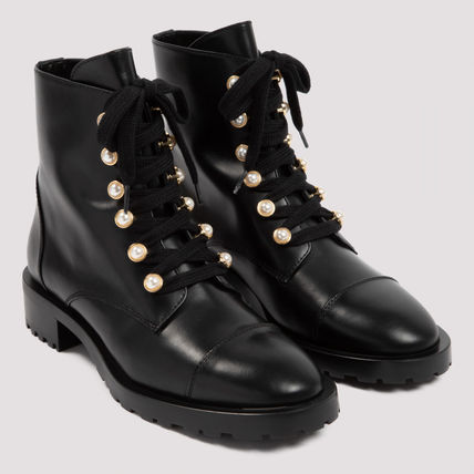 Casual Style Street Style Leather Elegant Style Boots Boots