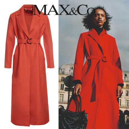 Max&Co. Chester Casual Style Wool Plain Medium Long Party Style Office Style