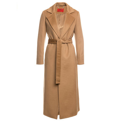 Casual Style Wool Plain Medium Long Party Style Office Style