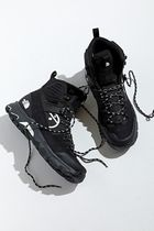 THE NORTH FACE Plain Toe Mountain Boots Street Style Leather Logo