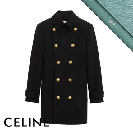 CELINE 70's 'Caban' In Felted Wool