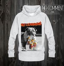 NO COMMENT PARIS Street Style Long Sleeves Cotton Hoodies