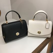 Coach Casual Style Plain Leather Office Style Elegant Style