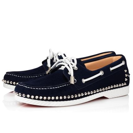 Christian Louboutin Studded Leather Loafers & Slip-ons