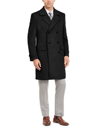 Ralph Lauren Wool Street Style Plain Bridal Peacoats Coats