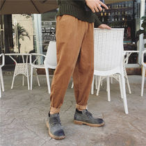 Tapered Pants Corduroy Street Style Plain Tapered Pants