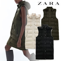 ZARA Casual Style Street Style Plain Medium Vest Jackets