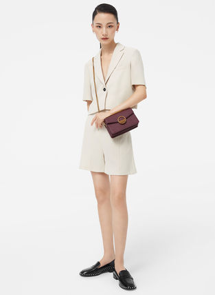 Charles&Keith Round Toe Faux Fur Plain Party Style With Jewels