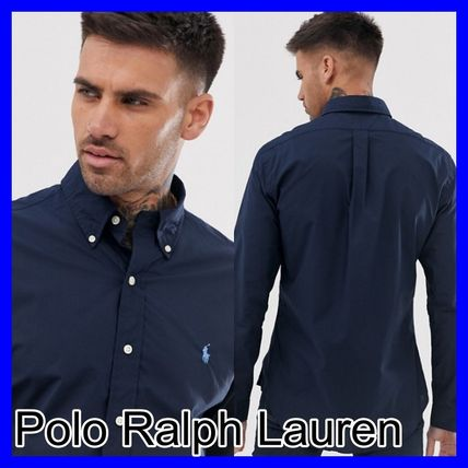 POLO RALPH LAUREN Shirts Button-down Unisex Street Style Long Sleeves Plain Cotton 2