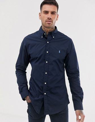 POLO RALPH LAUREN Shirts Button-down Unisex Street Style Long Sleeves Plain Cotton 3
