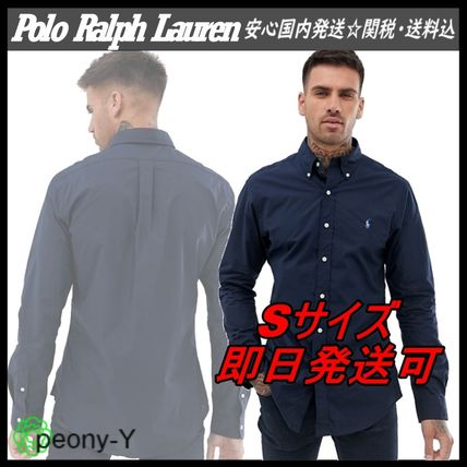 POLO RALPH LAUREN Shirts Button-down Unisex Street Style Long Sleeves Plain Cotton