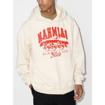 Unisex Long Sleeves Cotton Logo Hoodies
