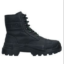 DIESEL Mountain Boots Plain Leather Logo Outdoor Boots
