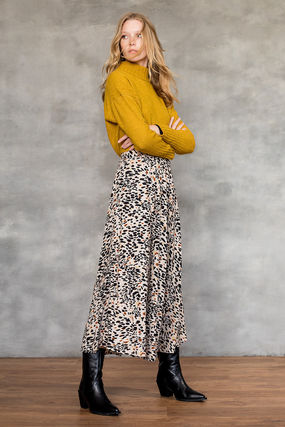 Other Animal Patterns Long Elegant Style Maxi Skirts