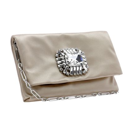 Jimmy Choo Chain Plain Party Style Elegant Style Formal Style  Clutches