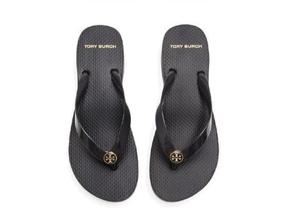 Tory Burch Casual Style Logo Sandals