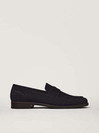 Massimo Dutti Loafers Suede Leather Loafers & Slip-ons