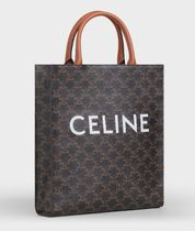 CELINE Small Cabas Vertical In Triomphe Canvas
