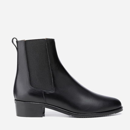 Plain Toe Casual Style Suede Plain Chelsea Boots Party Style