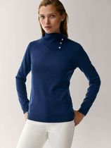 Massimo Dutti Casual Style Wool Long Sleeves Plain High-Neck Turtlenecks