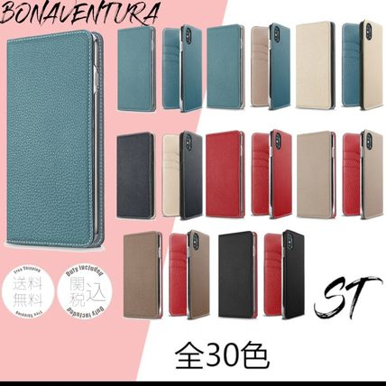 Plain Leather iPhone X iPhone XS Logo Smart Phone Cases