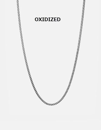 Street Style Chain Handmade Silver Necklaces & Chokers