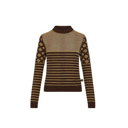 Louis Vuitton Cashmere Sweater With Contrasting Monogram Motif